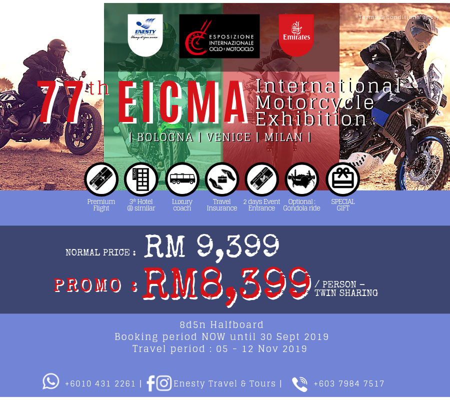 8D 5N EICMA (International Motorcycle Exhibition)